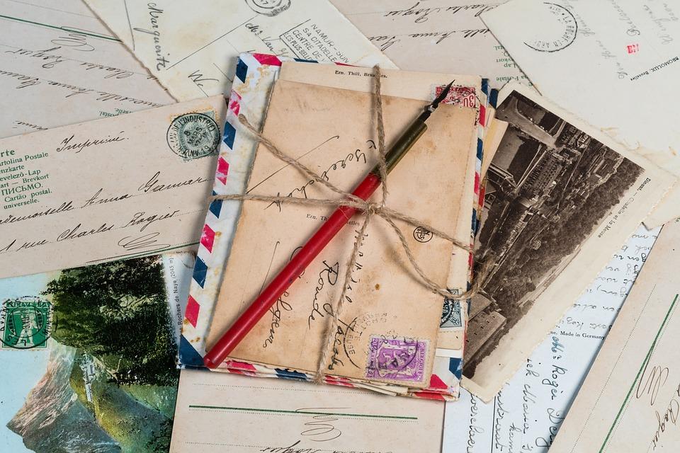 cartes postales et lettre pour psychométrie